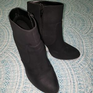 High heeled ankle boots. Size 10